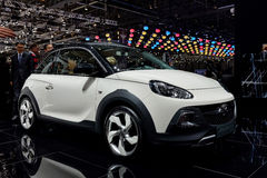 Vauxhall Opel at the 2014 Geneva Motorshow. The new Vauxhall Adam at the 2014 Geneva Motorshow Royalty Free Stock Photos