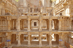 Vav del ki de Rani, patan, Gujarat foto de archivo