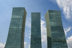 Vavy Skyscrapers. Severnoe Siyanie building complex in Astana, Kazakhstan Stock Photography