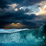 Vawe da água azul foto de stock