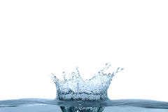 Vawe de l'eau bleue photographie stock