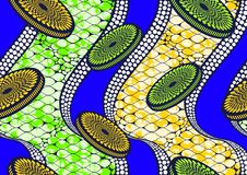 Vax för afrikanskt tyg för tryck för textilmode toppet vektor illustrationer