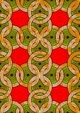 Vax för afrikanskt tyg för tryck för textilmode toppet royaltyfri illustrationer
