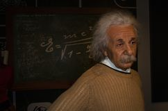 Vax figure - Albert Einstein in Madame Tussauds Museum royalty free stock image