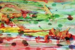 Vax, vattenfärg och målarfärg, abstrakt bakgrund Arkivfoto