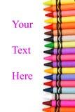 Vaxa crayons Royaltyfria Foton