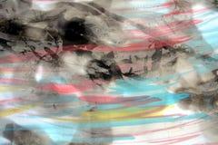 Vaxa och brände papper med mjuk målning, abstrakt bakgrund Royaltyfria Foton