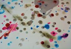 Vaxartad färgrik bakgrund som mousserar lerig vaxartad målarfärg, kontrast formar bakgrund i pastellfärgade toner arkivbilder