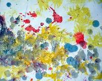 Vaxartad målarfärg för vattenfärg i mousserande toner och färger Royaltyfri Foto