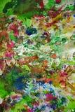 Vaxartade färgstänk, abstrakt idérik bakgrund för målarfärg Arkivbilder