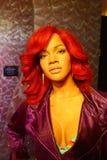 Vaxdiagram av Rihanna i madamen Tussauds Museum royaltyfri bild