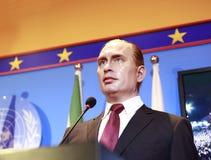 Vaxdiagram av rysspresidenten Vladimir Putin Fotografering för Bildbyråer