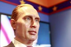 Vaxdiagram av rysspresidenten Vladimir Putin Arkivfoton