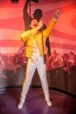 Vaxfigur av Freddie Mercury Royaltyfri Foto