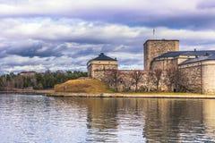 Vaxholm - 2017年4月07日:Vaxholm,瑞典城堡  库存照片
