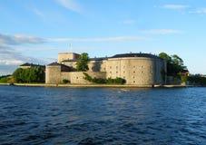 Vaxholm fästning, den historiska befästningen i den Stockholm skärgården Arkivfoto