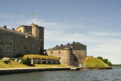 Vaxholm fortress Royalty Free Stock Photos