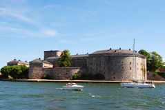 Vaxholm fortress. Vaxholm castle in Stockholm archipelago Sweden stock photography