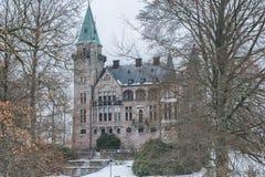 Vaxjo, Svezia - febbraio 2018 Vecchio castello di Teleborg dello scandinavo in Svezia fotografie stock libere da diritti