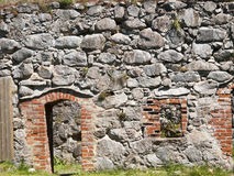 Vaxjo,Sweden. Detail from Kronoberg Castle ruin near Vaxjo in Sweden Royalty Free Stock Photography
