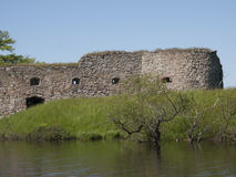 Vaxjo,Sweden. Kronoberg Castle ruin near Vaxjo in Sweden Stock Photo