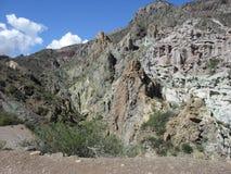 Vaxmuseum i den Atuel kanjonen, Mendoza, Argentina Arkivbilder