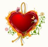 Vaxskyddsremsa i formen av hjärta Royaltyfri Fotografi