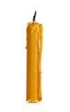 Vaxstearinljus som isoleras på vit Royaltyfri Foto