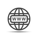 Vaya al icono del web Ejemplo plano del vector de Internet para el sitio web encendido Imagenes de archivo