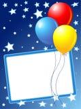 Vaya de fiesta el fondo de los globos Imagenes de archivo