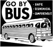 Vaya en autobús Fotografía de archivo