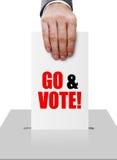 Vaya y vote Fotografía de archivo