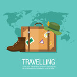 Vayamos ejemplo del viaje en todo el mundo Fotografía de archivo