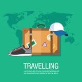 Vayamos ejemplo del viaje en todo el mundo Imagenes de archivo