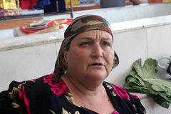 Vazar de Samarkand, mulher do Uzbeque Foto de Stock Royalty Free