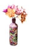 Vaze av pappers- blommor Arkivfoton