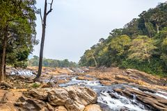 Vazhachal Falls is situated in Athirappilly Panchayath of Thrissur district in Kerala on the southwest coast of India. royalty free stock images