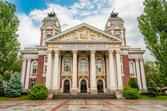 Ivan Vazov Theatre, Sofia, Bulgaria. The Vazov National Theatre is Bulgaria`s national theatre, as well as the oldest and most authoritative theatre in the royalty free stock photography