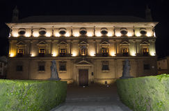 Vazquez de Molina Palace Palace of the Chains at night, Ubeda,. Spain Stock Photos