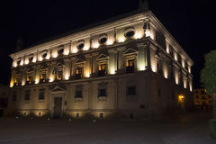 Vazquez de Molina Palace Palace of the Chains at night, Ubeda,. Spain Royalty Free Stock Image