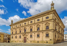 The Vazquez de Molina Palace, Ubeda, Spain. The Vazquez de Molina Palace, also known as the Palace of the Chains is a renaissance palace located in  Ubeda, Spain Stock Photo