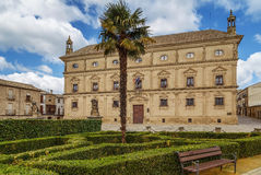 The Vazquez de Molina Palace, Ubeda, Spain. The Vazquez de Molina Palace, also known as the Palace of the Chains is a renaissance palace located in  Ubeda, Spain Royalty Free Stock Images