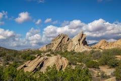 Vazquez Rocks Panorama Stock Photography