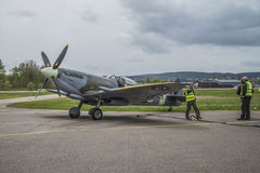 vb supermarine spitfire mk XVI (airshow) Стоковое Фото