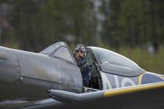 vb supermarine spitfire mk XVI (airshow) Стоковая Фотография