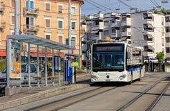 VBG公共汽车在苏黎世 免版税库存照片