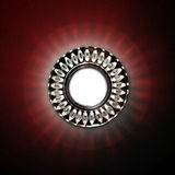 Vbright circular lamp on the ceiling Royalty Free Stock Images