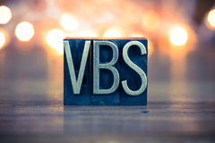 VBS Concept Metal Letterpress Type Stock Photography