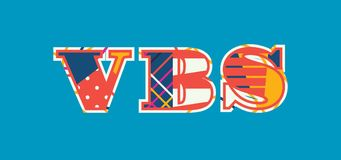 VBS Concept Word Art Illustration