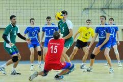 """VC Dnipro †""""VC Vinnitsa 在排球的乌克兰杯 免版税库存照片"""